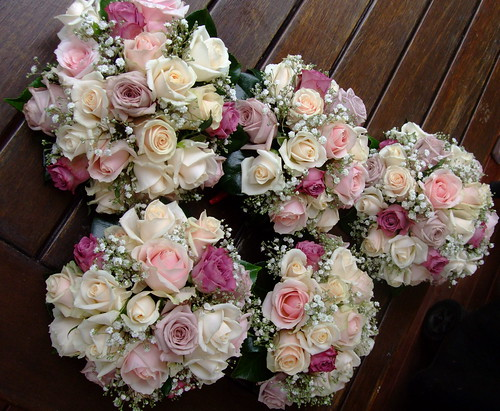 Pink Rose Wedding Bouquets | by Florabella Design