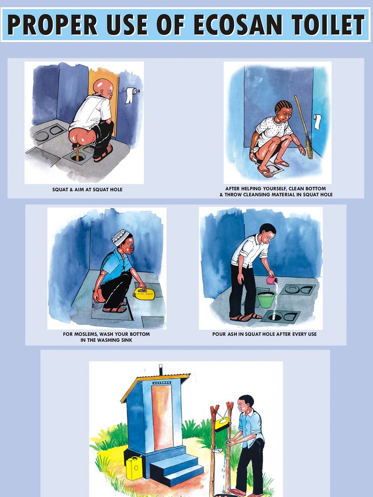 . Use of UDDT   ecosan toilet   in English   Poster by DED and    Flickr