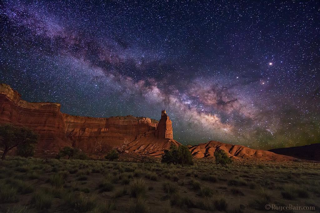 Milky Way Over Chimney Rock Milky Way Rises Over Chimney