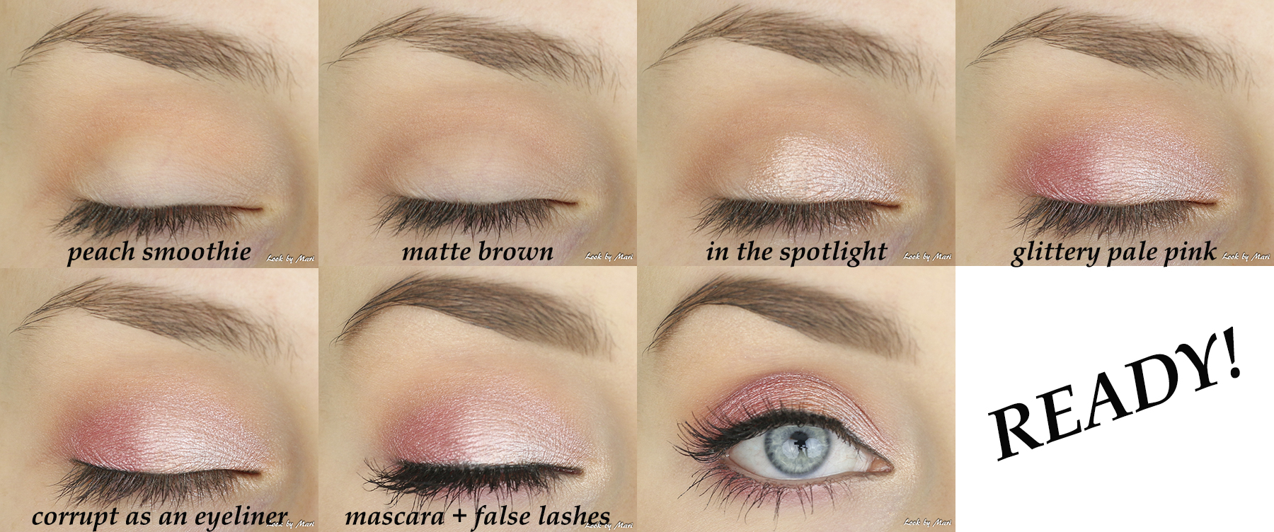 4 soft glam pretty valentines day eye makeup ideas tutorial pale pink glittery soft white
