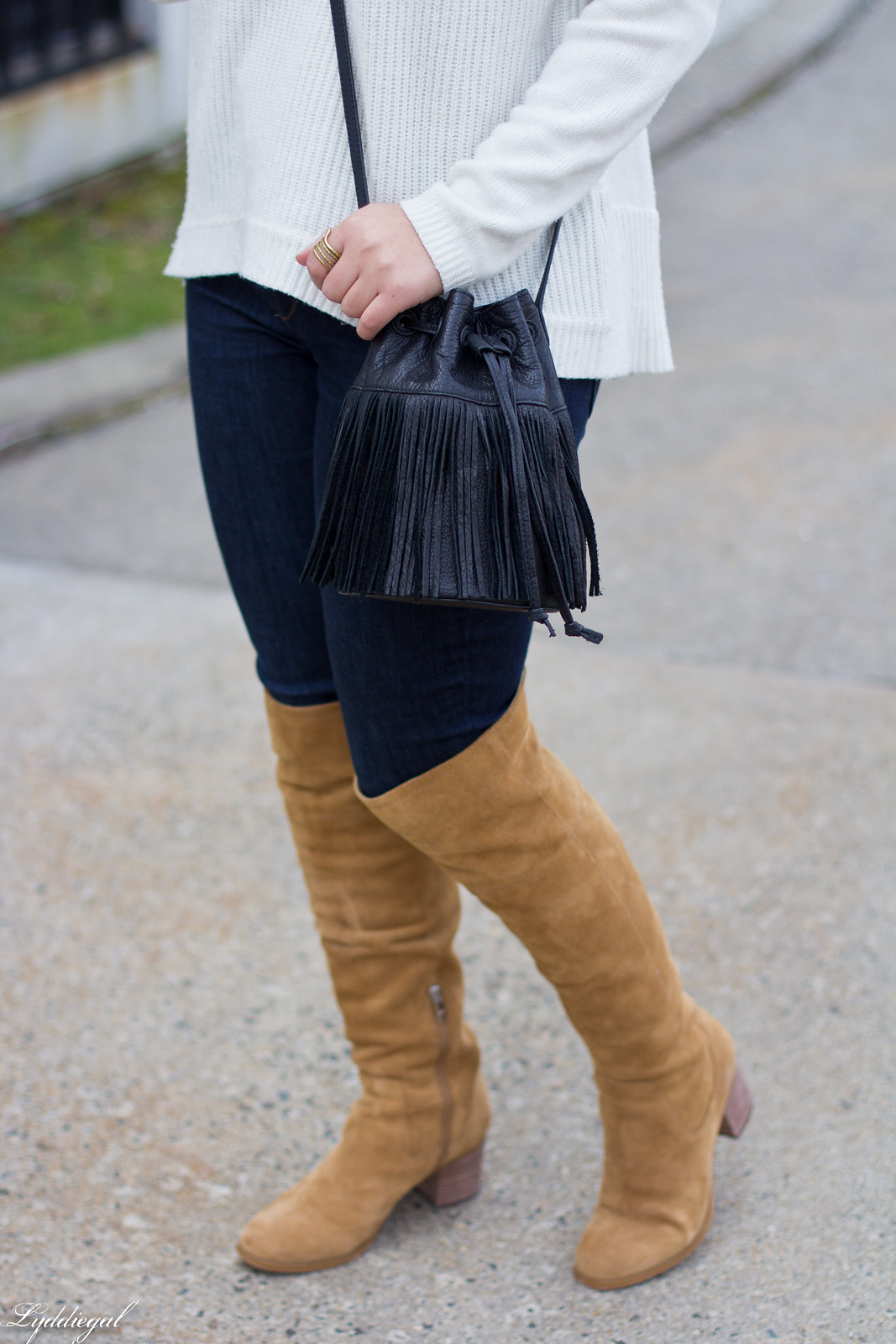 white sweater, tan over the knee boots, black wool hat-6.jpg
