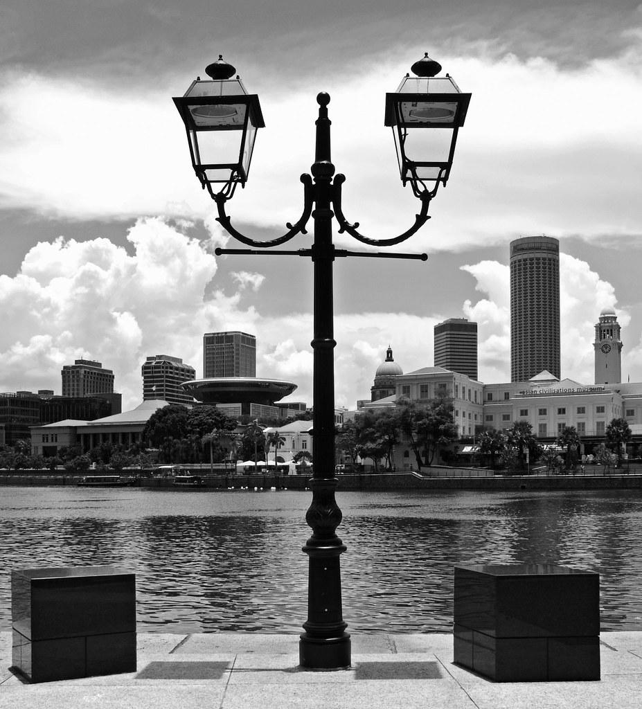 Lamp Post Singapore Lamp Post at Boat Quay
