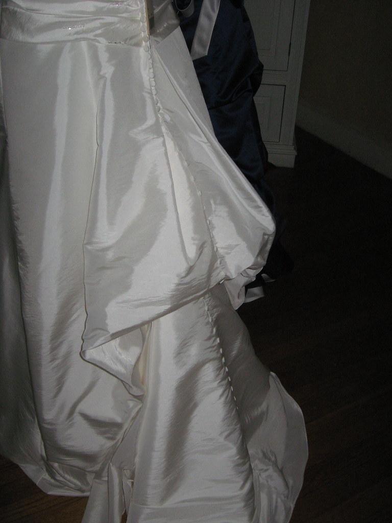 Wedding Gown Inside Bustle | Wedding October 6 | Liz Provo | Flickr