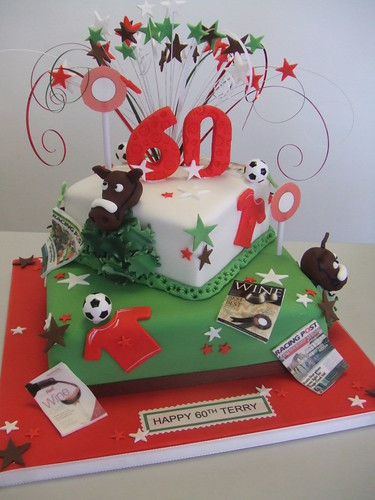 Red Horse Cake Design : Horses,footy and red wine This cake was for a dad who ...