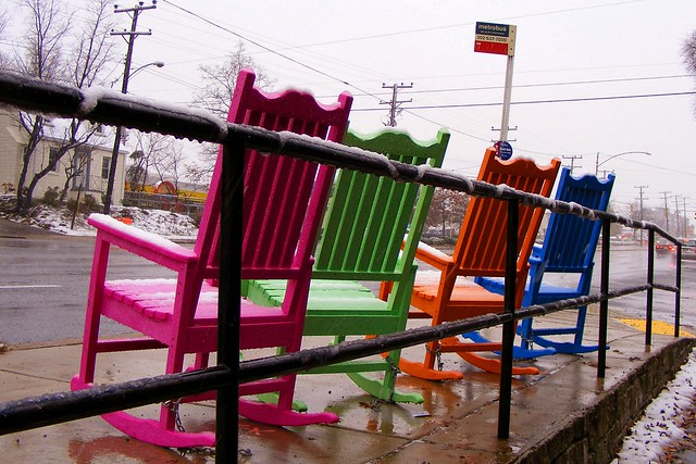 Colorful Rocking Chairs, New Hampshire at Devonshire  Flickr - Photo ...