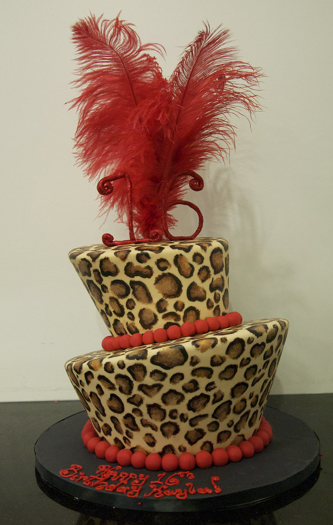 Bc4159 Leopard Print Cake Toronto Bc4159 A 2 Tier