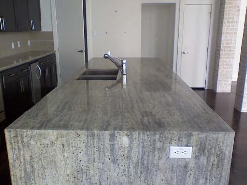 Modern mobile kitchen island - Very Modern Granite Island Beautiful Granite Countertop T