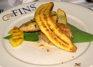 4th Course: Pineapple Basil Glazed Mahi | by SazeracLA