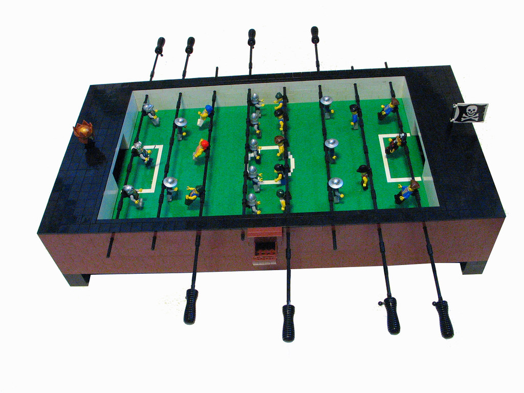 ... LEGO Coffee Table Foosball Table Top Side   By Mt.Dew Monkey