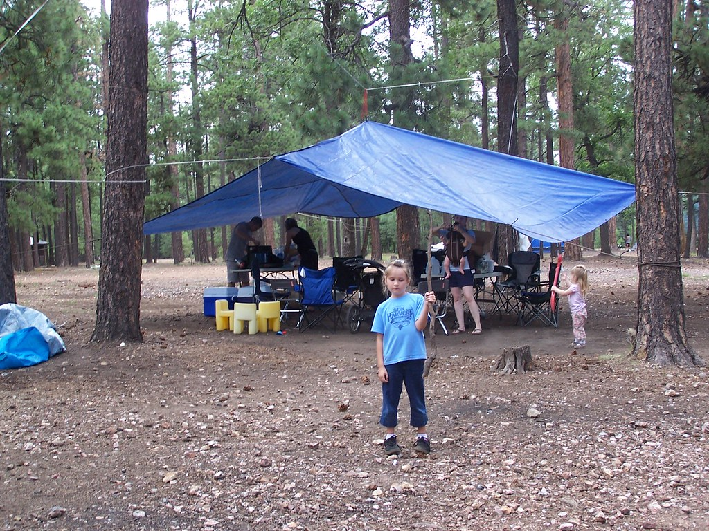 ... C&ing The tarp canopy | by rclawson & Camping: The tarp canopy | rclawson | Flickr