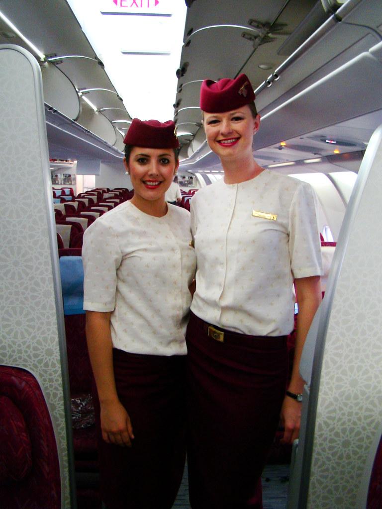 nice cabin crew of Qatar