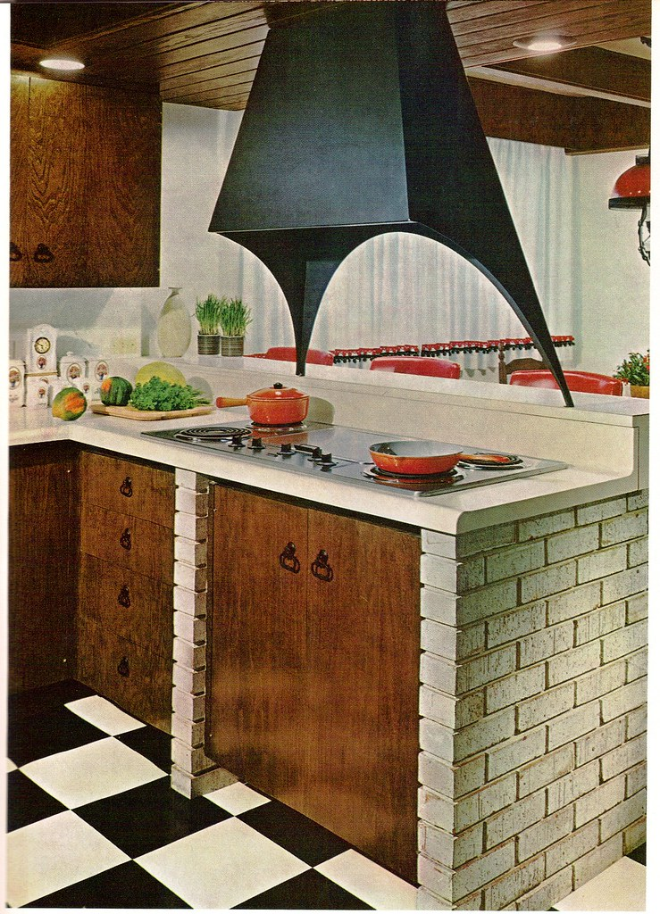Yet another 60 39 s kitchen from the practical encyclopedia for 70s style kitchen cabinets