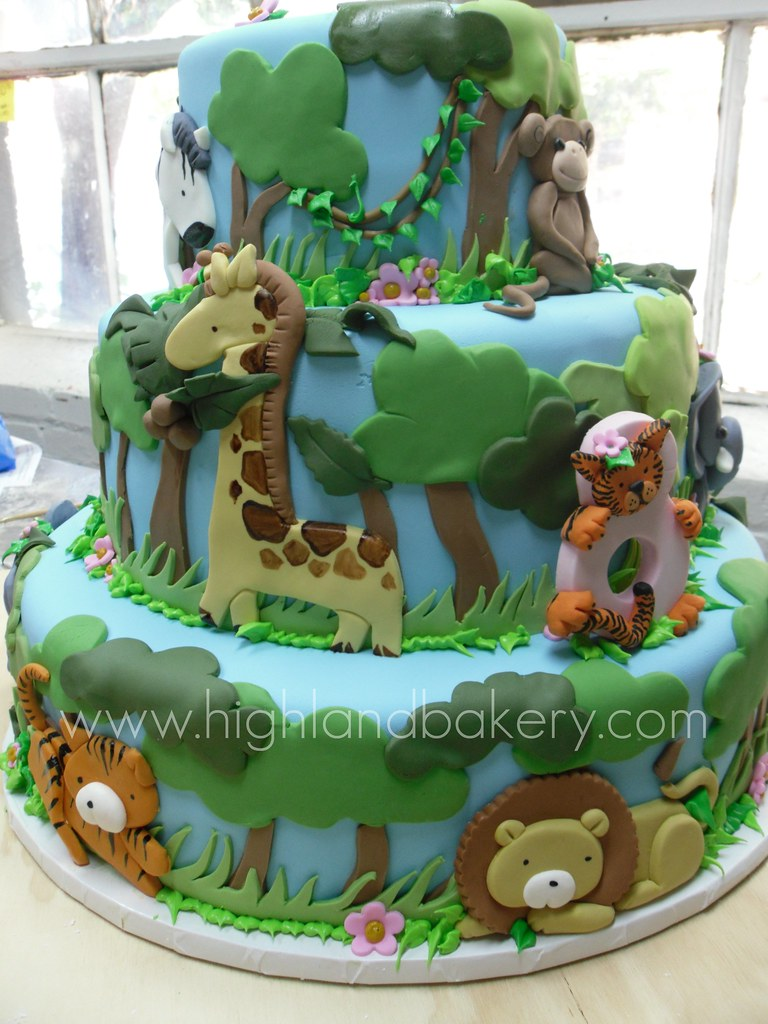 Jungle Baby Cake Ideas