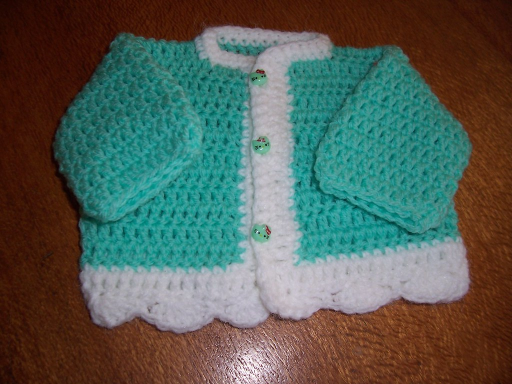 Crochet Baby Sweater Very Easy Yvette O Brien Flickr