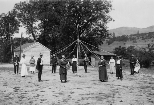 May Day with people around the May Pole | by OSU Special Collections & Archives : Commons