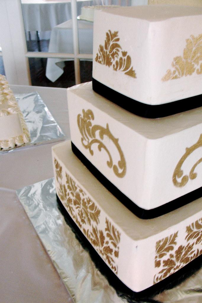 White Tiered Wedding Cake