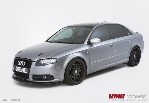 "VMR Wheels | 19"" Gunmetal VB3 on Quartz Gray B7 Audi A4 | Flickr"