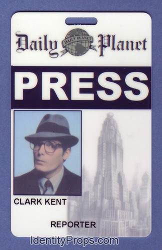 Smallville Superman daily planet press pass kent clark Id ...