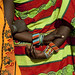 Samburu women's hands with beaded bracelets - Kenya
