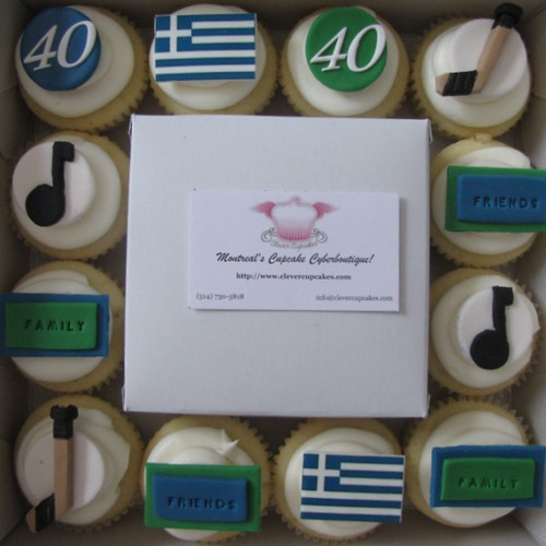 Personalized 40th Birthday Cupcakes | Lemon cupcakes with cr ...