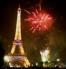 New Years Eve Fireworks at the Eiffel Tower | by mattyneil