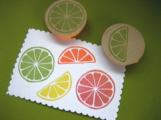 Citrus Slice Rubber Stamp | by drumchick99