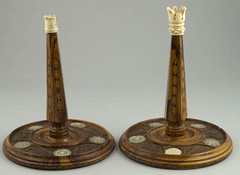 Pair of Torah stave tops | by Center for Jewish History, NYC