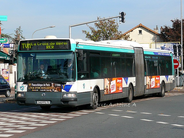 Irisbus Agora L RATP n°1797 | Ligne Trans-Val de Marne ...