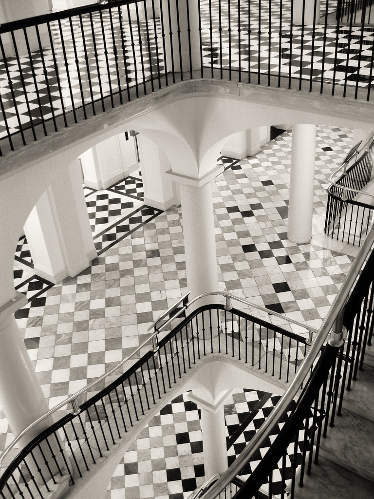 Mc Escher Had A Field Trip Interior Stairwell Of The Us De Flickr