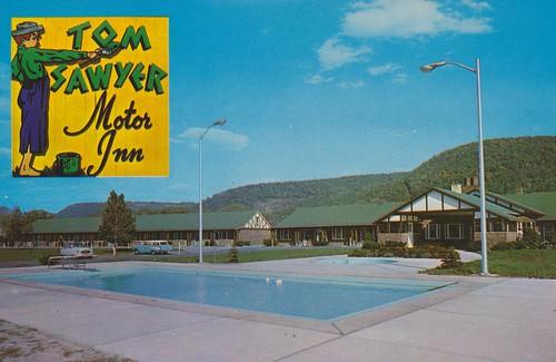 Tom Sawyer Motor Inn Elmira New York 1996 Lake St
