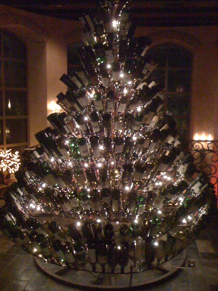 The Wine Bottle Christmas Tree In Old Hickory Steakhouse