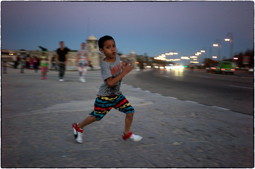 Running Boy, Havana, February 11, 2017