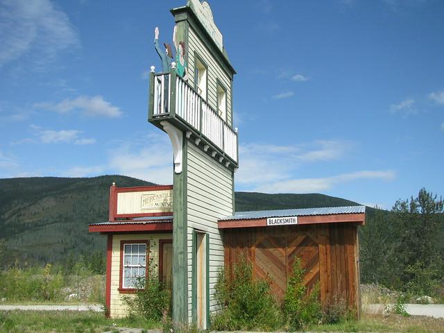 Welcome To Dawson City At Entrance To Dawson City Yukon