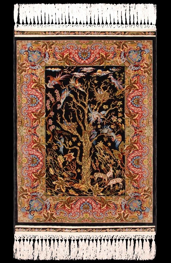 Hereke Silk Carpet Quot Tree Of Life Quot 15 X 15 Size Gr 246 223 E