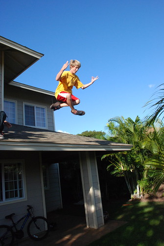 Joe Jumping off the roof | by Makena G