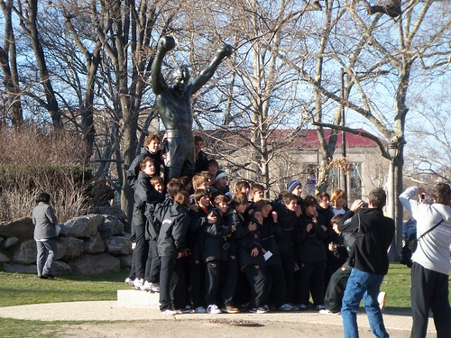 argentinean team + rocky statue | by studio-s