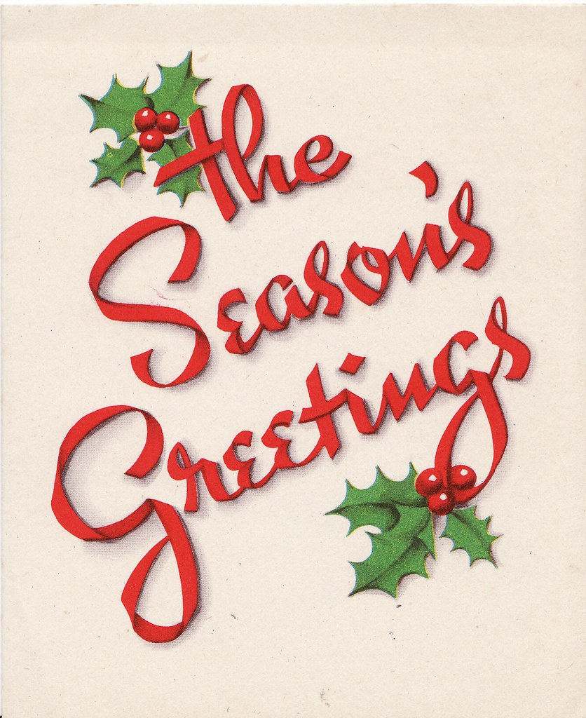 Seasons greetings what a sweet font style red ribbons sp flickr seasons greetings by calsidyrose seasons greetings by calsidyrose kristyandbryce Images