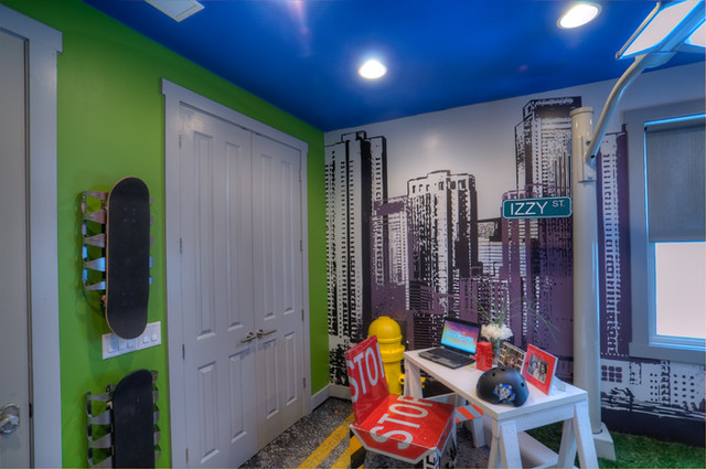 Foreverlawn on extreme makeover home edition kids street for Extreme makeover bedroom ideas