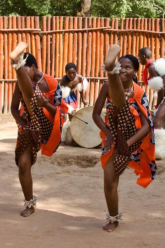 Swazi woman in traditi...