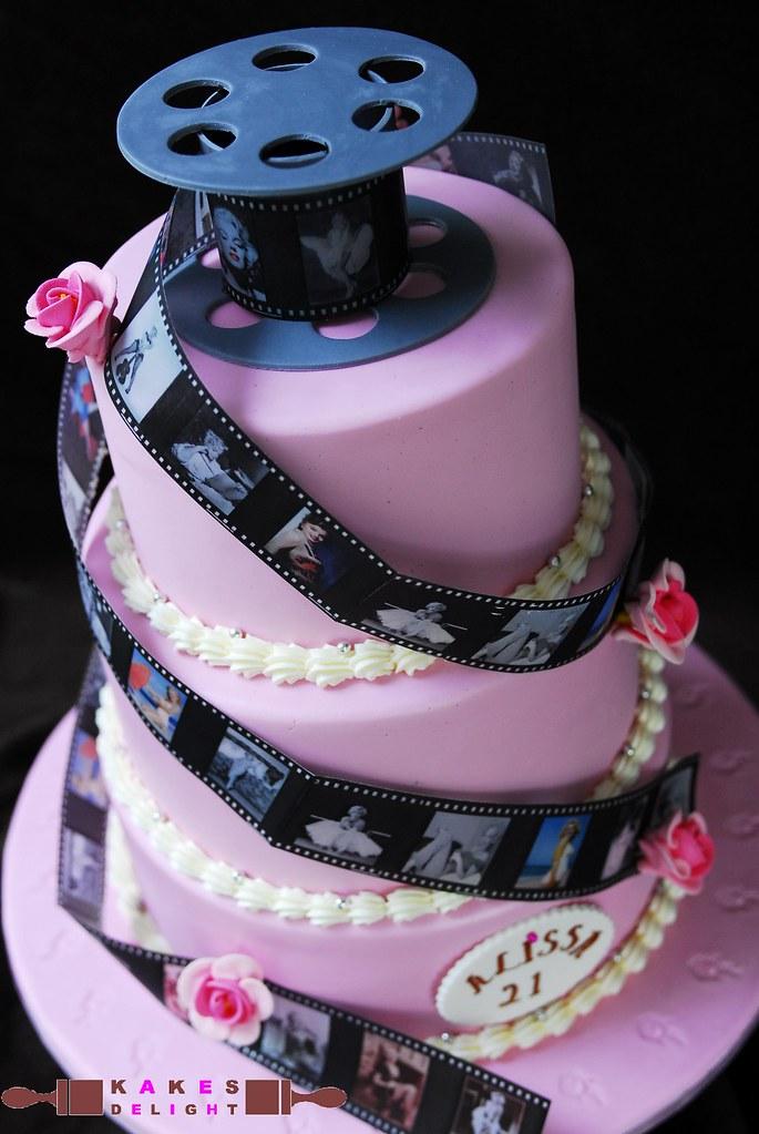 Alissas 21st Marilynmonroe Birthday Cake Phil Designed Th Flickr