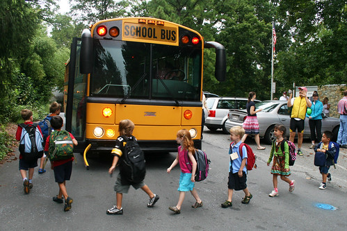 first day school bus ritual | by woodleywonderworks