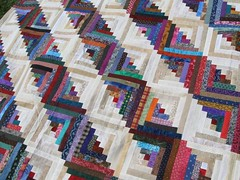 3,332 Piece Scrappy Log Cabin Quilt Top | by brige66