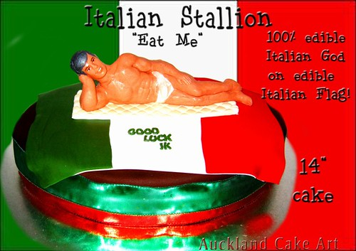 Italian Stallion Eat Me Birthday Cake Rude Cheeky