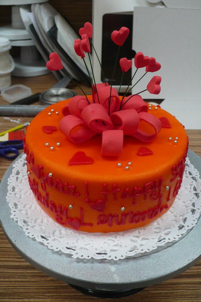 Red Ribbon Birthday Cake Zoe Elizabeth Gottehrer Flickr