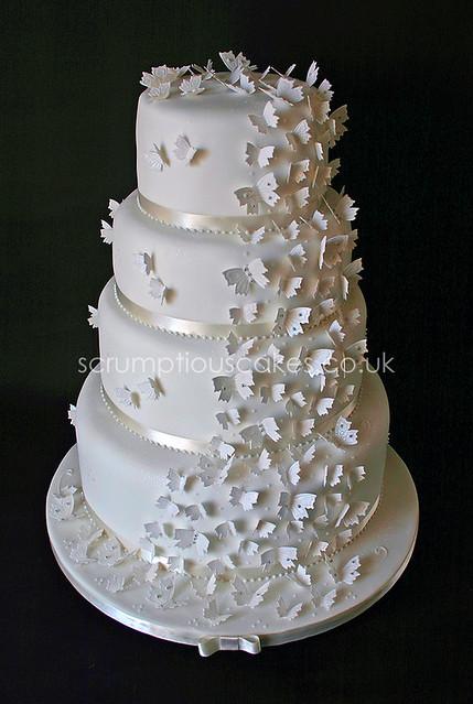 Wedding Cake 562 Butterfly Cascade 6 8 10 Amp 12