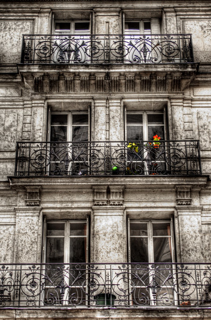 Flowers at a paris balcony flores en un balc n de par s for Balcons et terrasses de paris