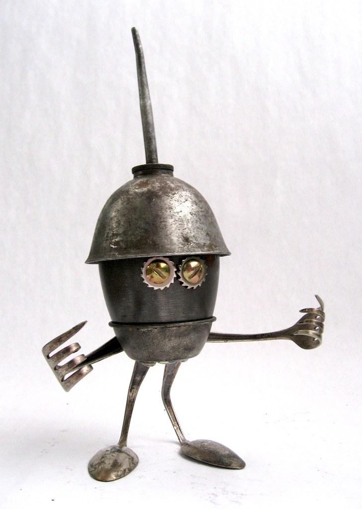 Plew 454 Found Object Robot Assemblage Sculpture Flickr
