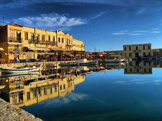 Rethymno old harbour hdr | by Theophilos