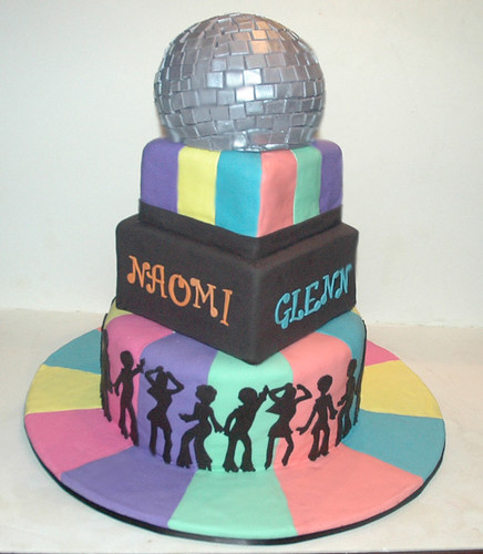 Disco Birthday Cake Designs