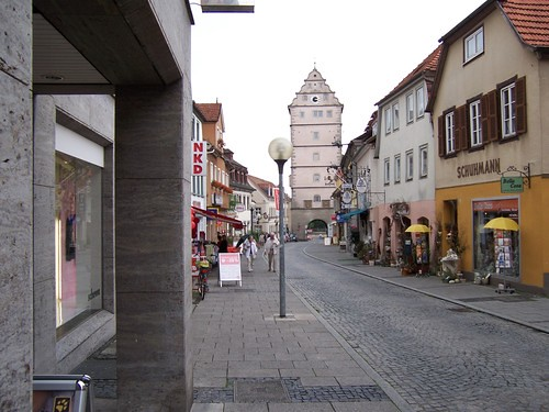 Bad Neustadt An Der Salle Bavaria Germany Small Town